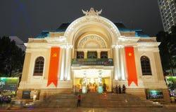 Saigon Opera House building at night Royalty Free Stock Images