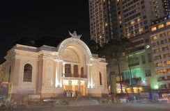 Saigon Opera House Dong Khoi street cityscape Ho Chi Minh City Saigon Vietnam Royalty Free Stock Photography