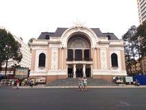 Saigon Opera House or Municipal Theatre of Ho Chi Minh City, Vietnam. Royalty Free Stock Photo