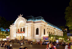 Saigon Opera House (Municipal Theatre) in Ho Chi Minh, Vietnam Royalty Free Stock Images