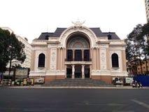 Saigon opera lub Miejski Theatre Ho Chi Minh miasto, Wietnam Zdjęcie Royalty Free