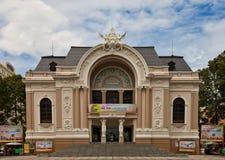 Saigon opera (około 1897). Ho Chi Minh miasto, Wietnam Zdjęcia Royalty Free