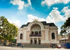 Saigon-Opernhaus oder städtisches Theater von Ho Chi Minh City, Vietnam Lizenzfreies Stockbild