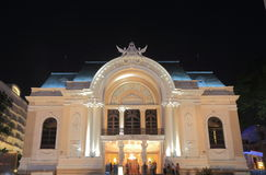 Saigon opery Dong Khoi pejzażu miejskiego Ho Chi Minh uliczny miasto Saigon Wietnam Obrazy Royalty Free