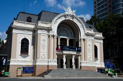 Saigon opery Ho Chi Minh miasto Wietnam Obraz Royalty Free