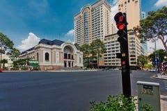 Saigon opery Miejski teatr w Ho Chi Minh mieście Zdjęcie Stock