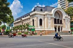 Saigon opery Miejski teatr w Ho Chi Minh mieście Obraz Stock
