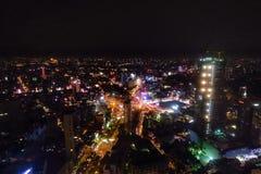 Saigon på natten Royaltyfri Bild