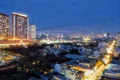 Saigon på natten Royaltyfri Fotografi