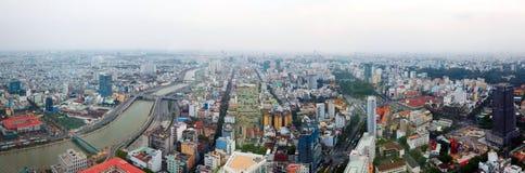Saigon panorama of the city at  dusk Stock Photos