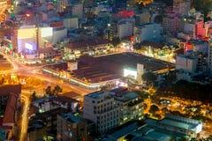 Saigon panorama of the city at night Stock Images