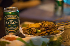 Saigon piwo Zdjęcia Royalty Free