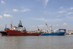 Saigon port Royalty Free Stock Photo