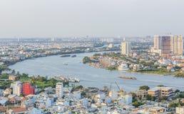 Saigon river in Ho Chi Minh city Stock Image