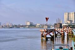 Saigon River in morning light, Ho Chi Minh city, VietNam Stock Photos
