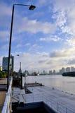 Saigon River in morning light, Ho Chi Minh city, VietNam Stock Image