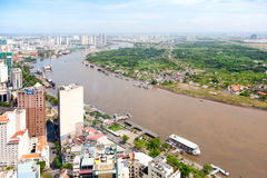 Saigon skyline Royalty Free Stock Photos