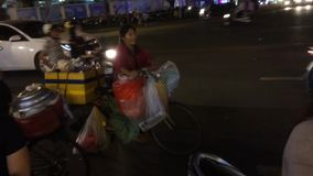 Saigon street by nght stock video footage