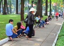 Saigon street vendor, Vietnam Stock Photos