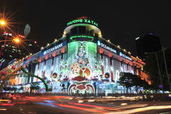 Saigon Tax Trade Center by night in Ho Chi Minh City Royalty Free Stock Images