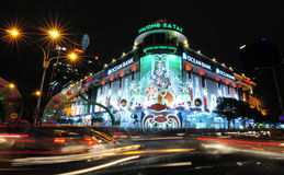 Saigon Tax Trade Center by night in Ho Chi Minh City Stock Photography