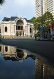 Saigon teater, forntida operahus Arkivfoto