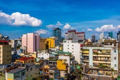 Saigon tegen dag Stock Foto