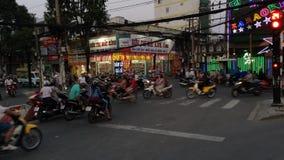 Saigon trafik stock video