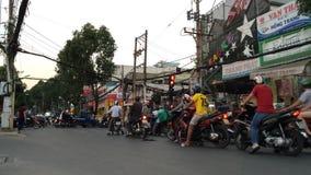 Saigon trafik arkivfilmer