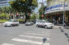 Saigon turisttaxi Arkivbild