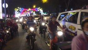 Saigon ulica nght zdjęcie wideo