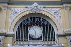 Saigon urzędu pocztowego frontispiece - Wietnam zdjęcie stock