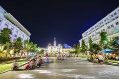 Saigon vid natt Royaltyfri Bild