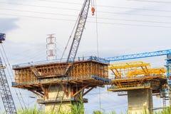 SAIGON, VIETNAM - 16 août 2017 - chantier de construction d'autoroute urbaine à la ville de Ho Chi Minh, Vietnam de Ben Luc à lon Images stock