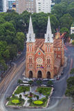 SAIGON, VIETNAM - 8. April 2016 - Saigon Notre Dame Cathedral Stockfotografie