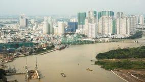 SAIGON, VIETNAM - 13 DE OCTUBRE DE 2016: Ho Chi Minh, Vietnam Timelapse metrajes