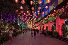 SAIGON, VIETNAM - 19 F?VRIER 2018 - d?coration de TET au mail de jardin, un centre commercial plus grand ? la ville de la Chine,  photo libre de droits