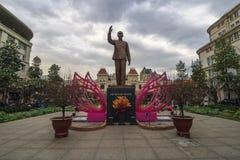 SAIGON, VIETNAM - 23. Januar 2017 - das historische Völker ` Ausschuss-Gebäude in Ho Chi Minh Square Lizenzfreies Stockfoto