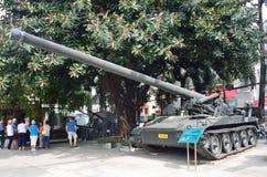 Saigon, Vietnam, January, 20, 2015. American tank and gun in the Vietnam war Museum in Saigon Royalty Free Stock Image