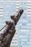 SAIGON VIETNAM - Juli 2017: patriotiska minnes- kommunistiska statyer i Saigon Arkivbilder