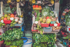 SAIGON, VIETNAM, 26 JUNI, 2016: Voedsel op Straat royalty-vrije stock foto's