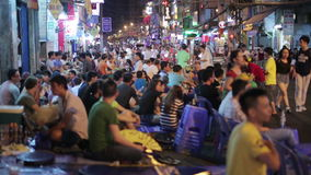 SAIGON, VIETNAM - MAY 2014: Nightlife with bars and pubs Royalty Free Stock Photos