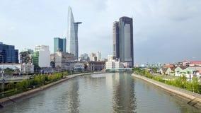 SAIGON, VIETNAM - MEI 2014: het dagelijkse leven op stadscentrum Royalty-vrije Stock Fotografie