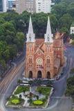 SAIGON, VIETNAME - 8 de abril de 2016 - Saigon Notre Dame Cathedral Fotografia de Stock