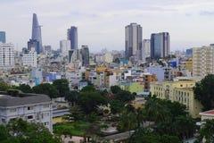 Saigon, vista aerea di paesaggio urbano di Ho Chi Minh Immagine Stock Libera da Diritti