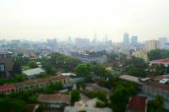 Saigon, vista aerea di paesaggio urbano di Ho Chi Minh, Vietnam Immagini Stock
