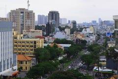 Saigon, vista aerea di paesaggio urbano di Ho Chi Minh, Vietnam Fotografie Stock