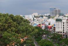 Saigon, vista aerea di paesaggio urbano di Ho Chi Minh, Vietnam Immagine Stock