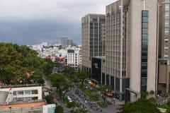 Saigon, vista aerea di paesaggio urbano di Ho Chi Minh, Vietnam Fotografia Stock
