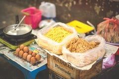 SAIGON, WIETNAM, CZERWIEC 26, 2016: Jedzenie na ulicie Obrazy Stock